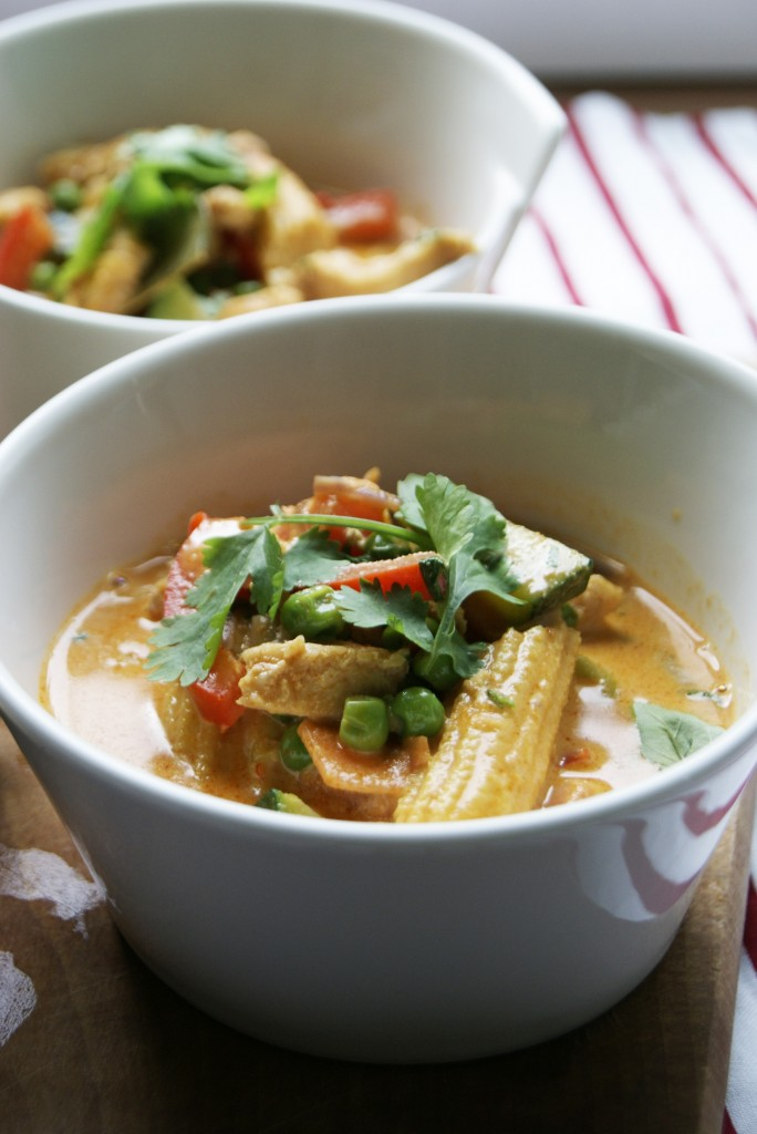 czerwone curry z kurczaka