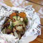 Grillowane warzywka z kiełbaską