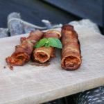 Grillowana szynka szwardzwaldzka z musem z pieczonej papryki