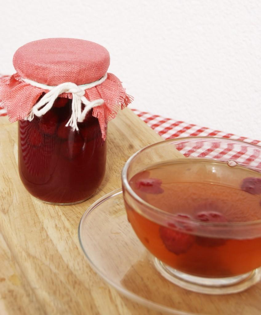Maliny do herbaty w syropie