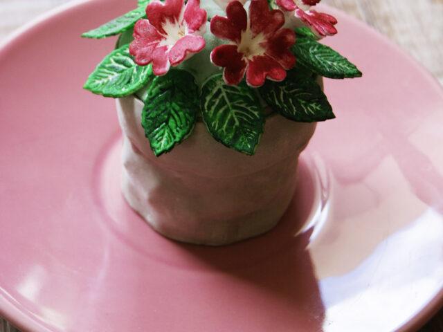 Babeczki doniczki z kwiatami