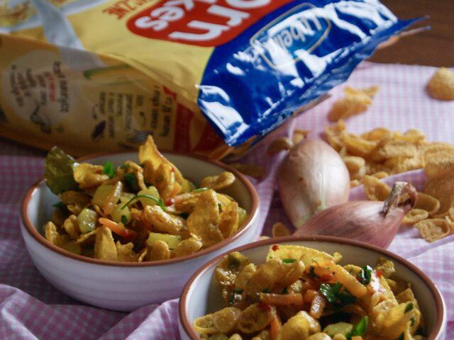 Indyjskie street food na śniadanie z płatkami corn flakes Lubella