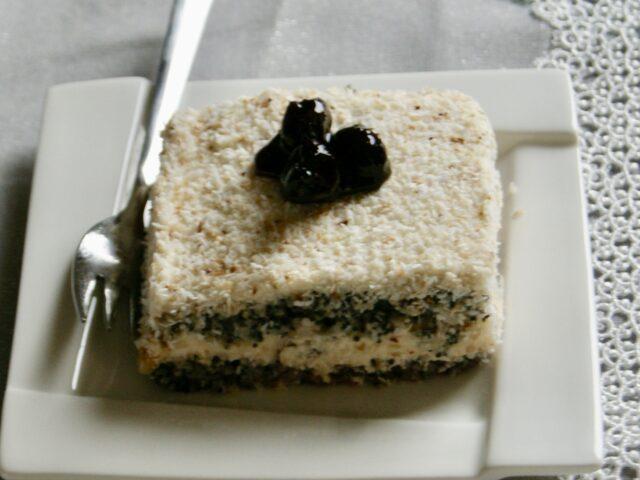 Ciasto – wiśniowo-makowa panienka