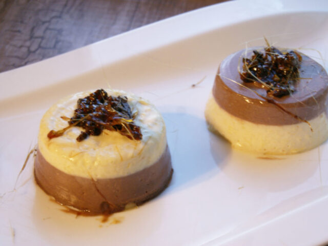 Panna cotta – mango i czekolada